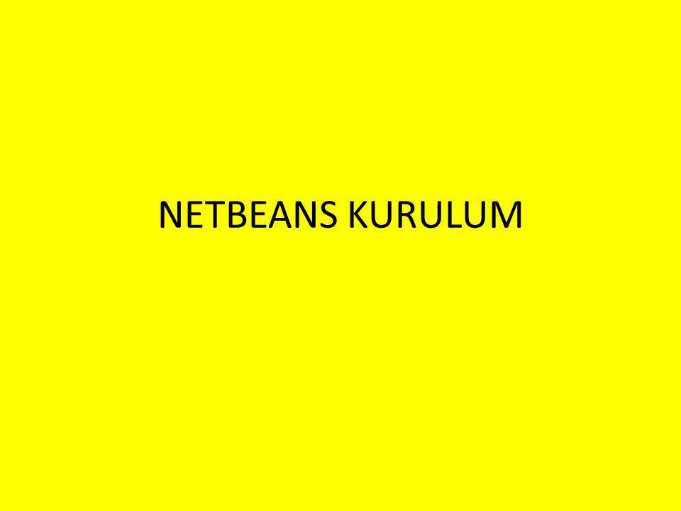 NETBEANS KURULUM