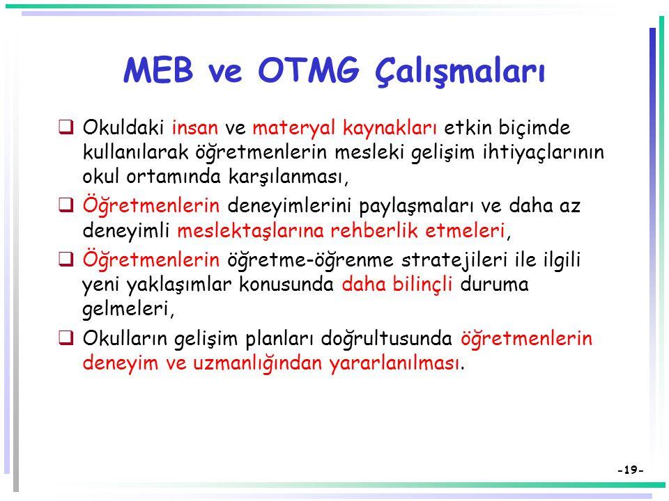 MEB ve OTMG Çalışmaları