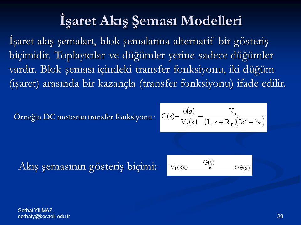 İşaret Akış Şeması Modelleri