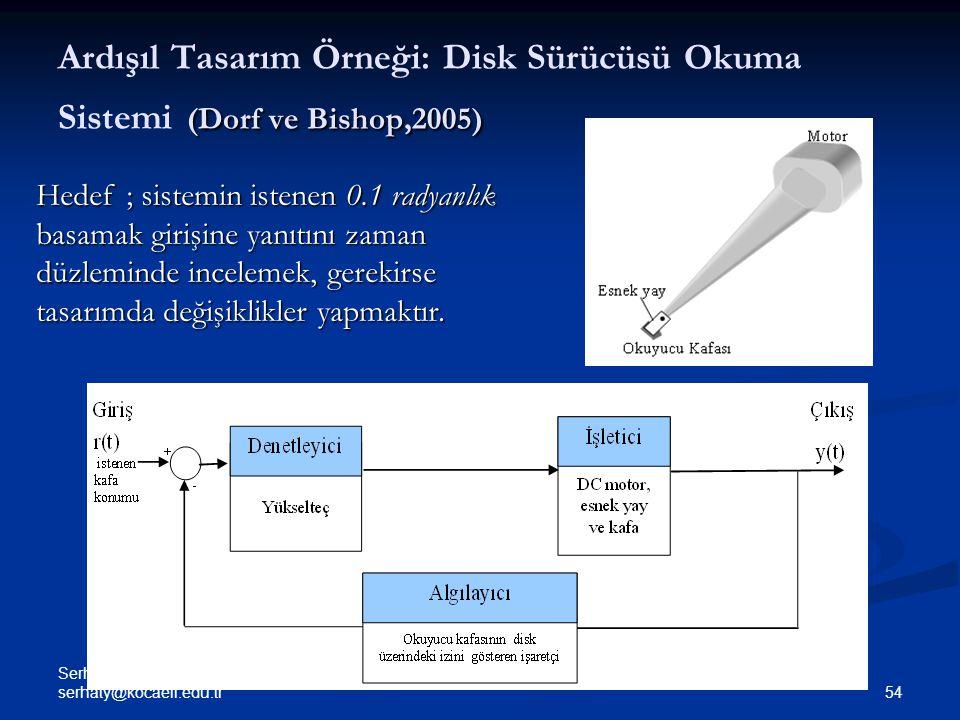 Ardışıl Tasarım Örneği: Disk Sürücüsü Okuma Sistemi (Dorf ve Bishop,2005)