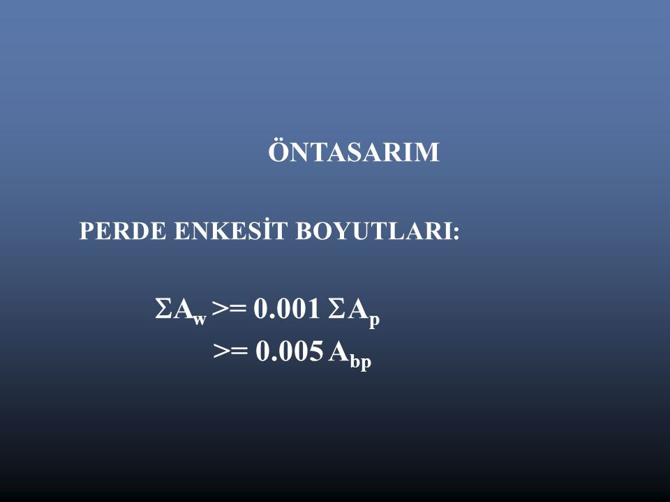 Aw >= 0.001 Ap >= 0.005 Abp