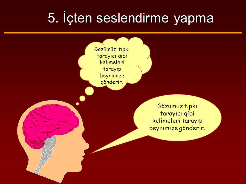 5. İçten seslendirme yapma