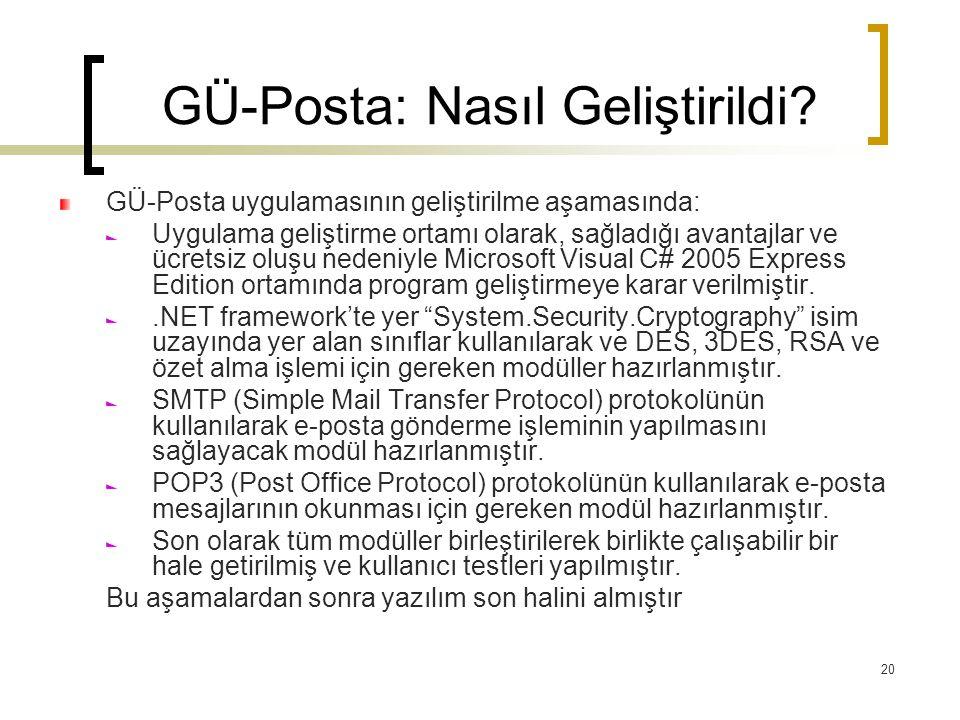 GÜ-Posta: Nasıl Geliştirildi