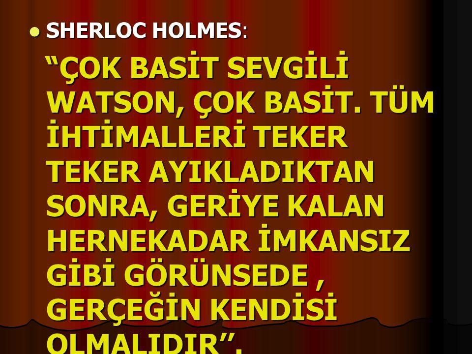 SHERLOC HOLMES: