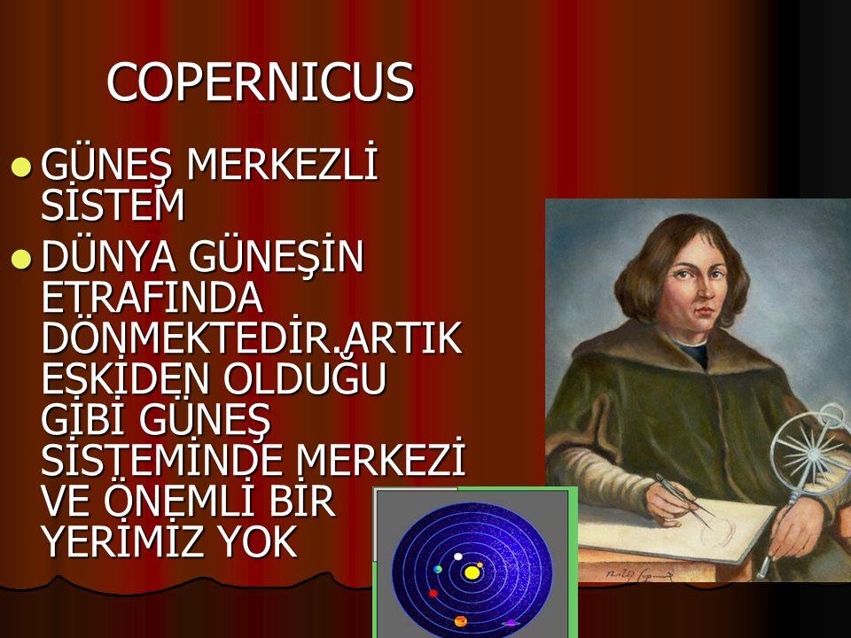 COPERNICUS GÜNEŞ MERKEZLİ SİSTEM