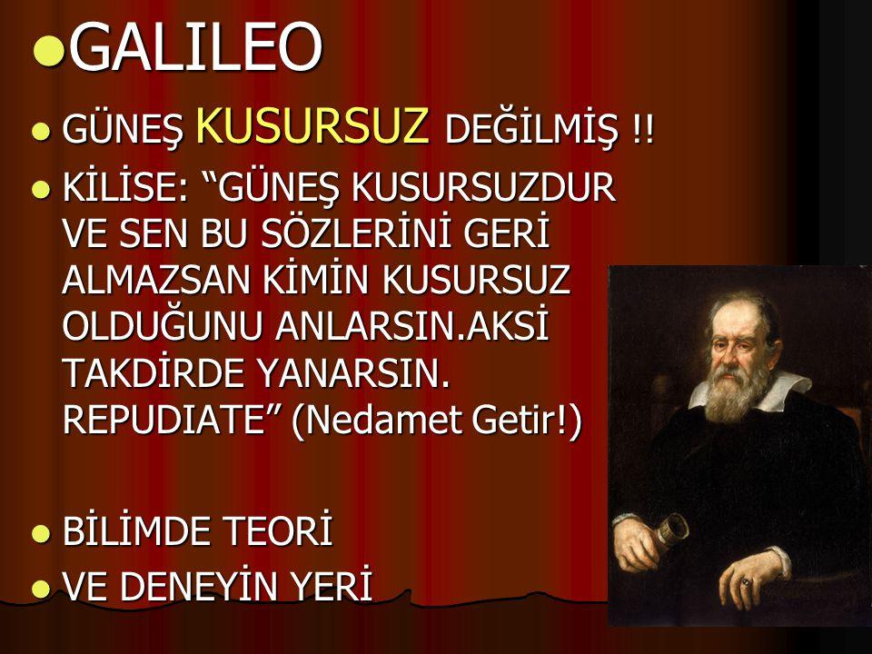 GALILEO GÜNEŞ KUSURSUZ DEĞİLMİŞ !!