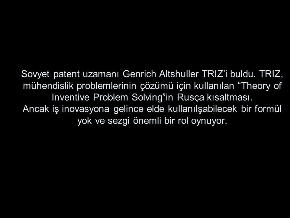 Sovyet patent uzamanı Genrich Altshuller TRIZ'i buldu