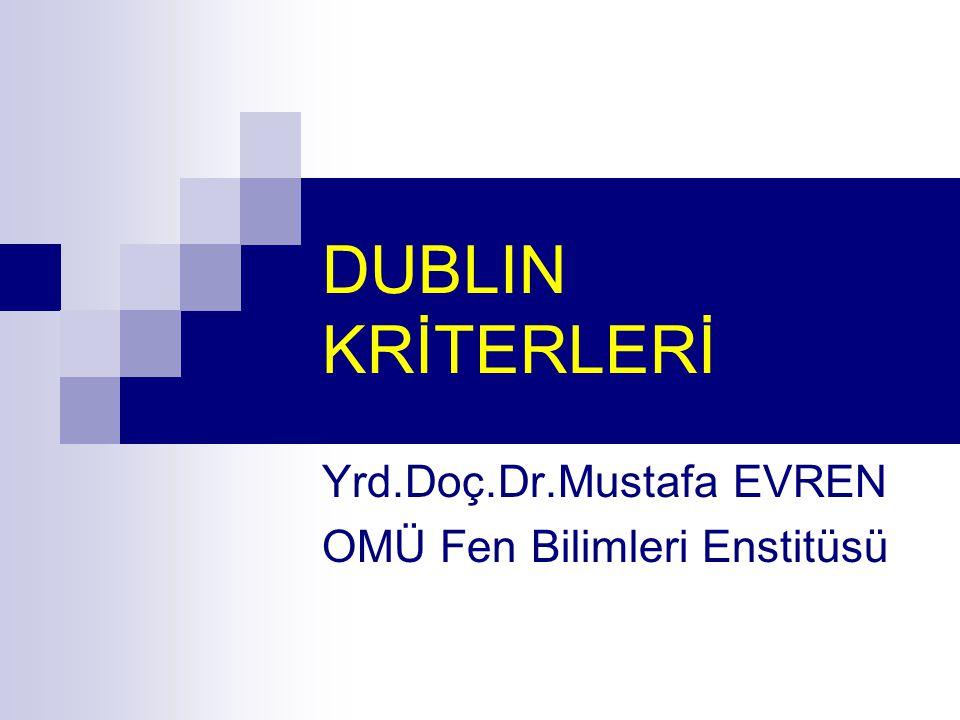 Yrd.Doç.Dr.Mustafa EVREN OMÜ Fen Bilimleri Enstitüsü