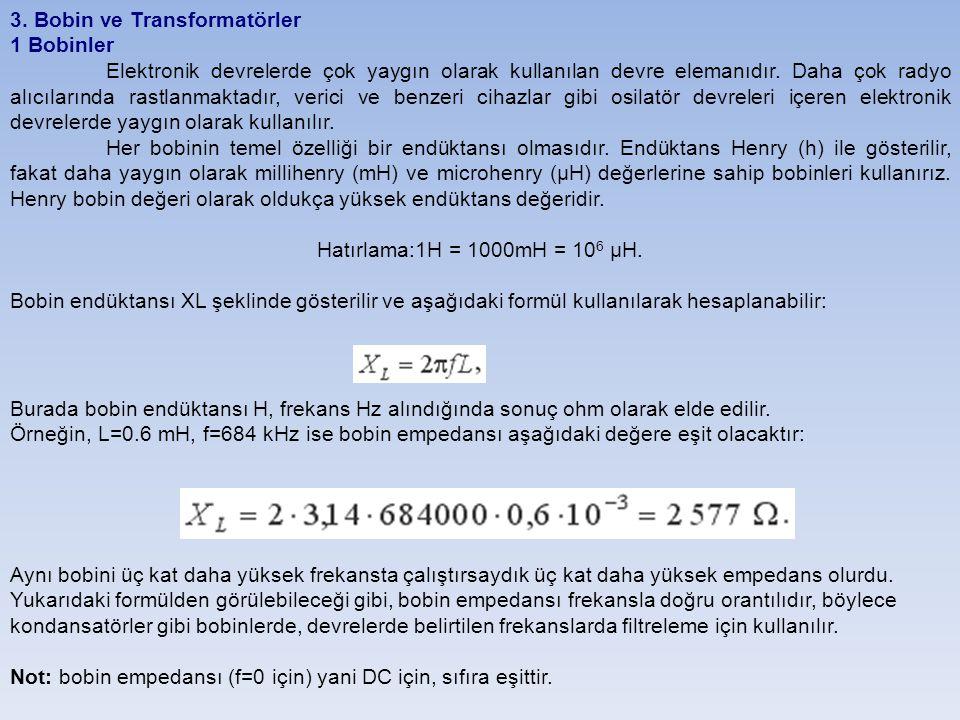 3. Bobin ve Transformatörler