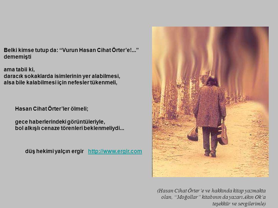 Belki kimse tutup da: Vurun Hasan Cihat Örter'e!... dememişti