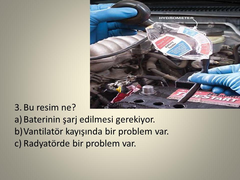 Bu resim ne. Baterinin şarj edilmesi gerekiyor. Vantilatör kayışında bir problem var.