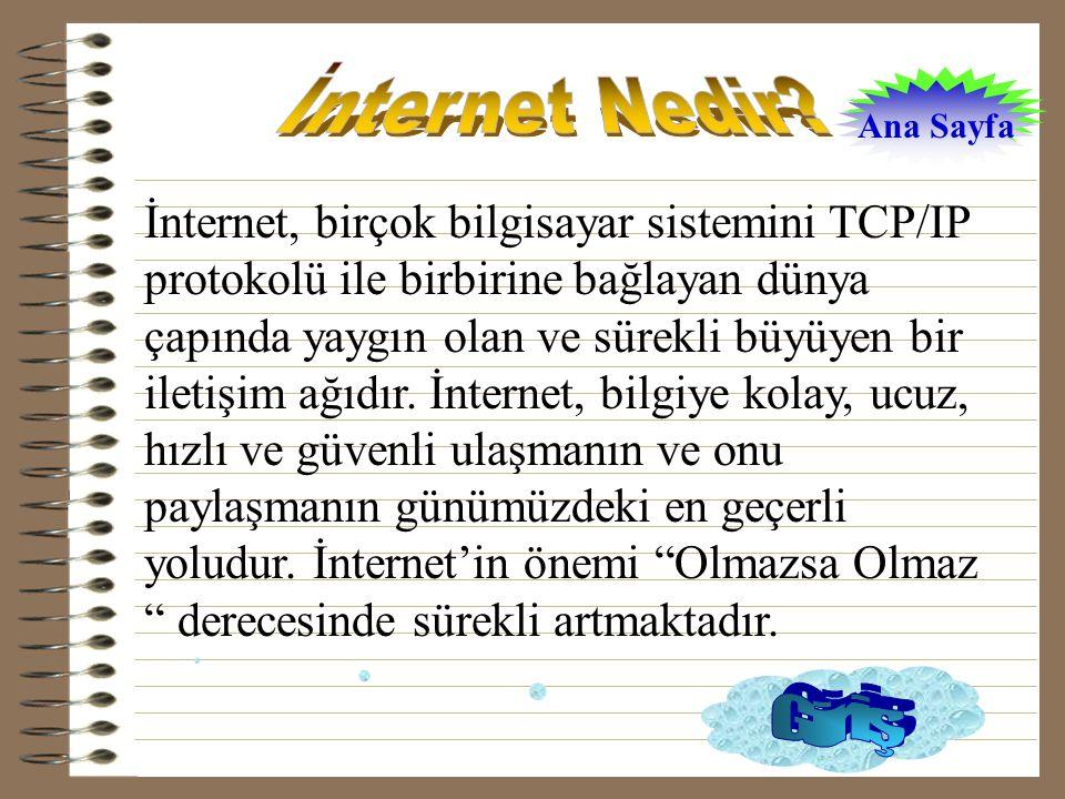 İnternet Nedir Ana Sayfa.