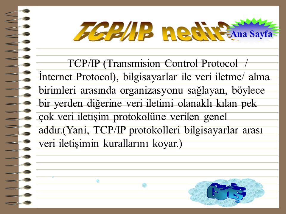 TCP/IP nedir Ana Sayfa.
