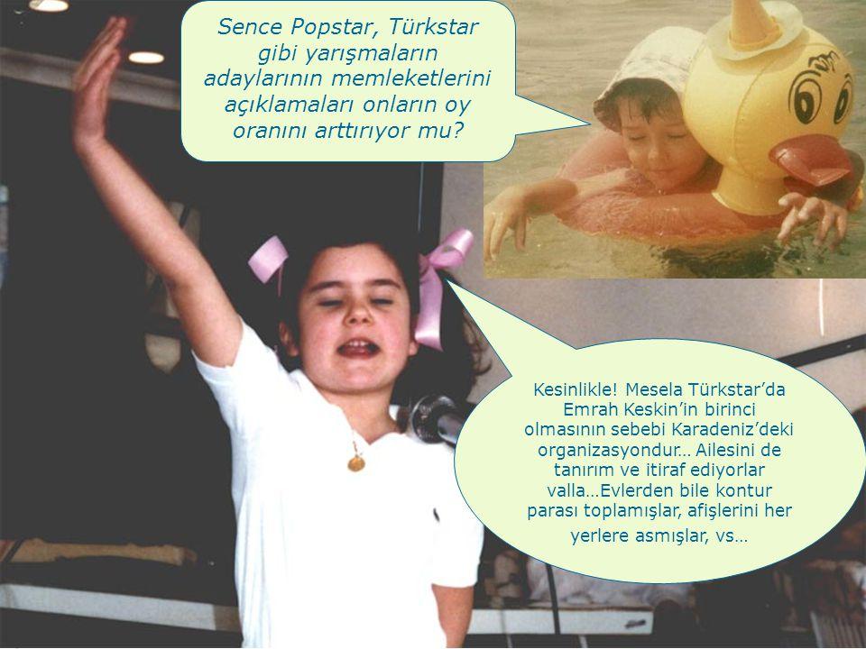 Sence Popstar, Türkstar gibi yarışmaların adaylarının memleketlerini açıklamaları onların oy oranını arttırıyor mu