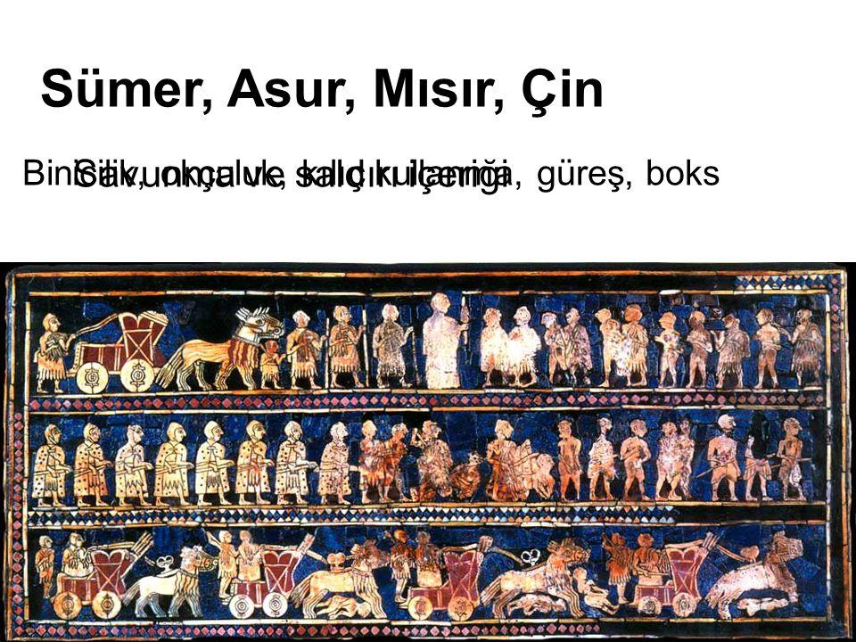 Sümer, Asur, Mısır, Çin Savunma ve saldırı içeriği