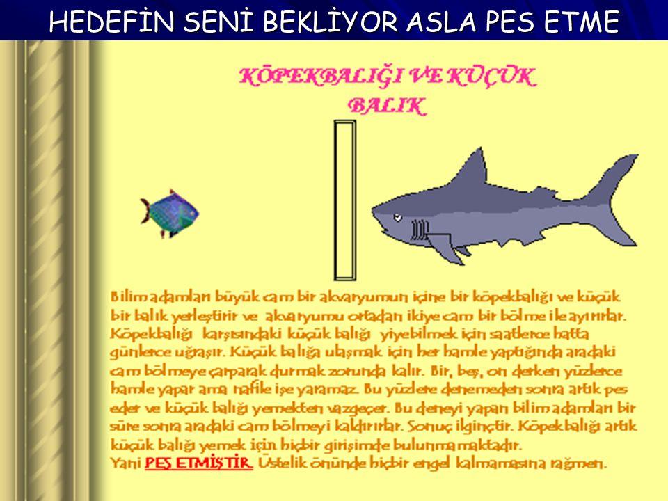 HEDEFİN SENİ BEKLİYOR ASLA PES ETME