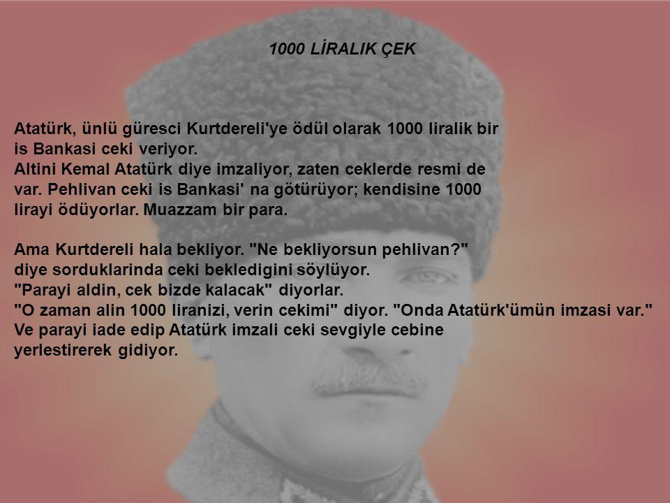 1000 LİRALIK ÇEK