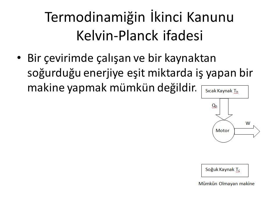 Termodinamiğin İkinci Kanunu Kelvin-Planck ifadesi