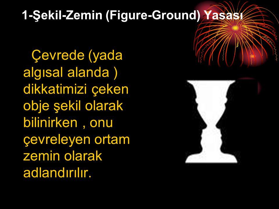 1-Şekil-Zemin (Figure-Ground) Yasası