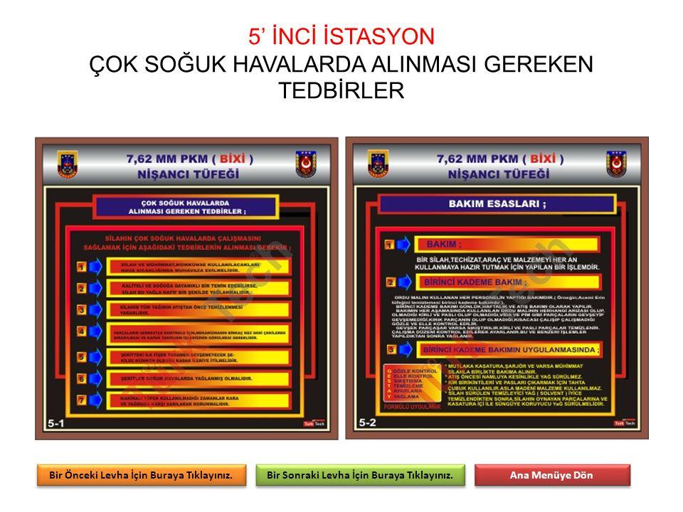 5' İNCİ İSTASYON ÇOK SOĞUK HAVALARDA ALINMASI GEREKEN TEDBİRLER