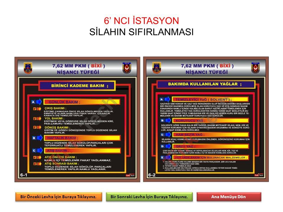 6' NCI İSTASYON SİLAHIN SIFIRLANMASI