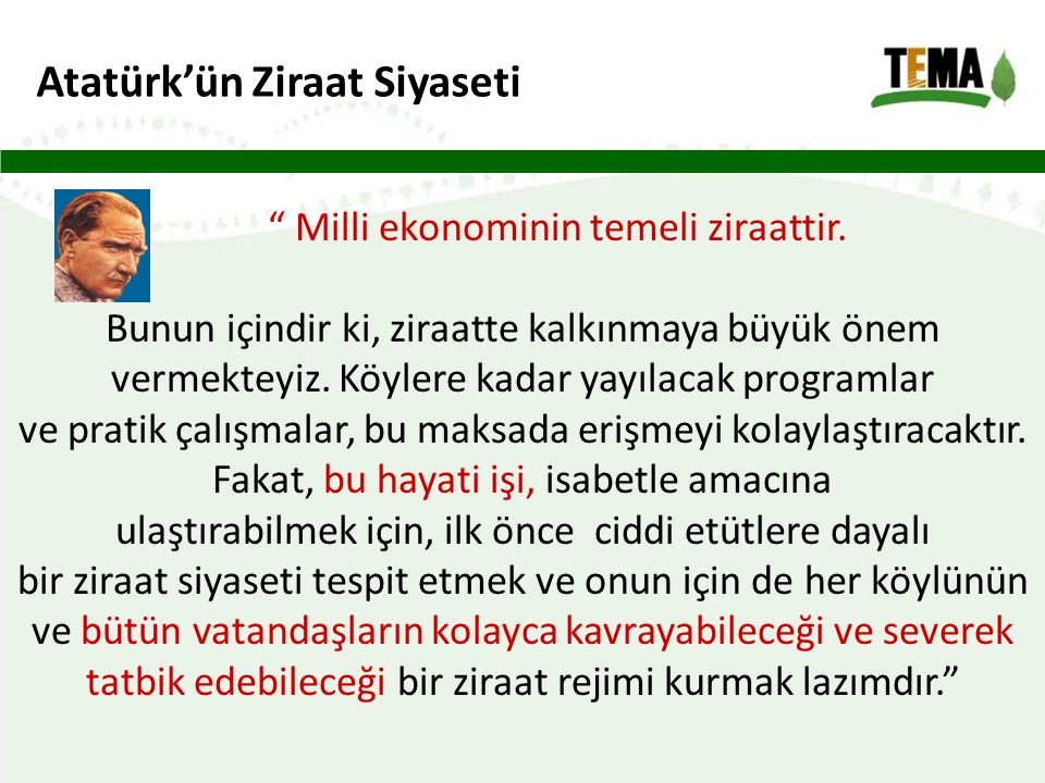 Atatürk'ün Ziraat Siyaseti