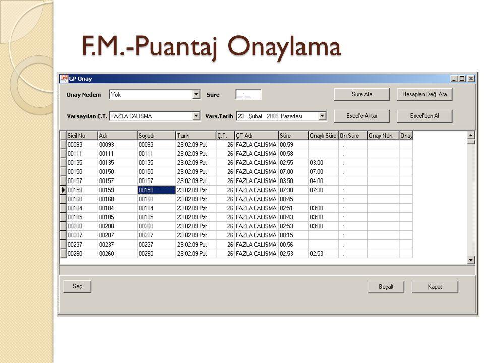 F.M.-Puantaj Onaylama