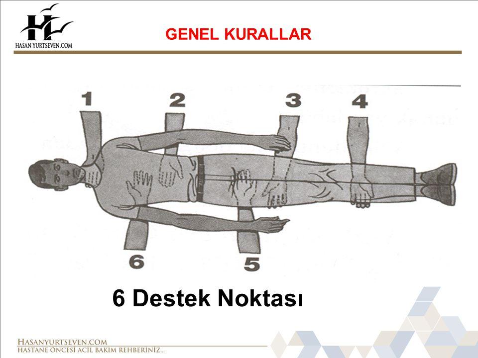 GENEL KURALLAR 6 Destek Noktası
