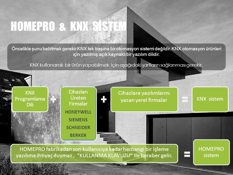 HOMEPRO & KNX SİSTEM Cihazlara yazılımlarını yazan yerel firmalar