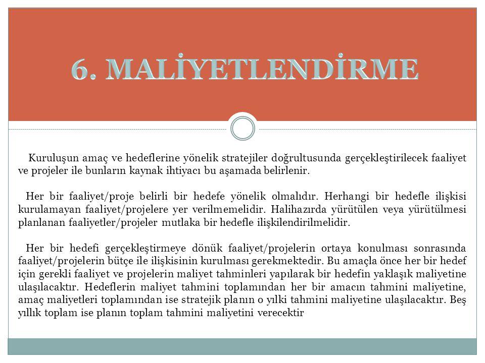6. MALİYETLENDİRME