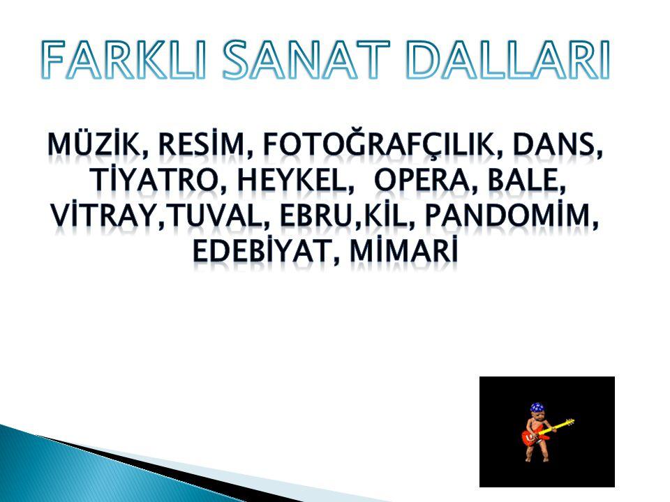 FARKLI SANAT DALLARI MÜZİK, RESİM, FOTOĞRAFÇILIK, DANS,