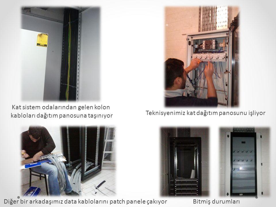 Kat sistem odalarından gelen kolon
