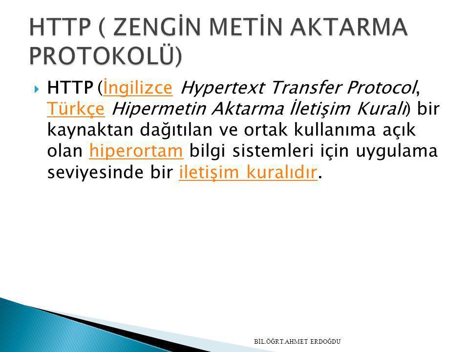HTTP ( ZENGİN METİN AKTARMA PROTOKOLÜ)