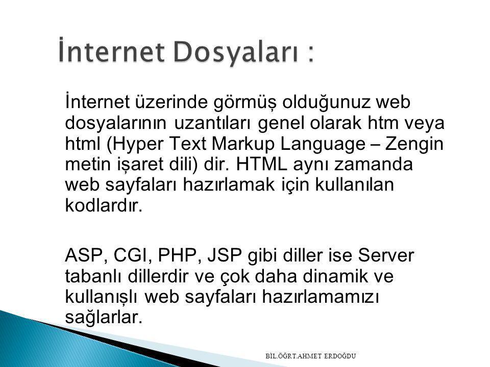 İnternet Dosyaları :