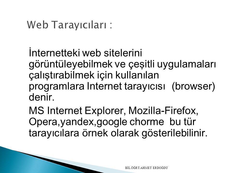 Web Tarayıcıları :