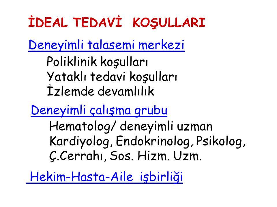 İDEAL TEDAVİ KOŞULLARI