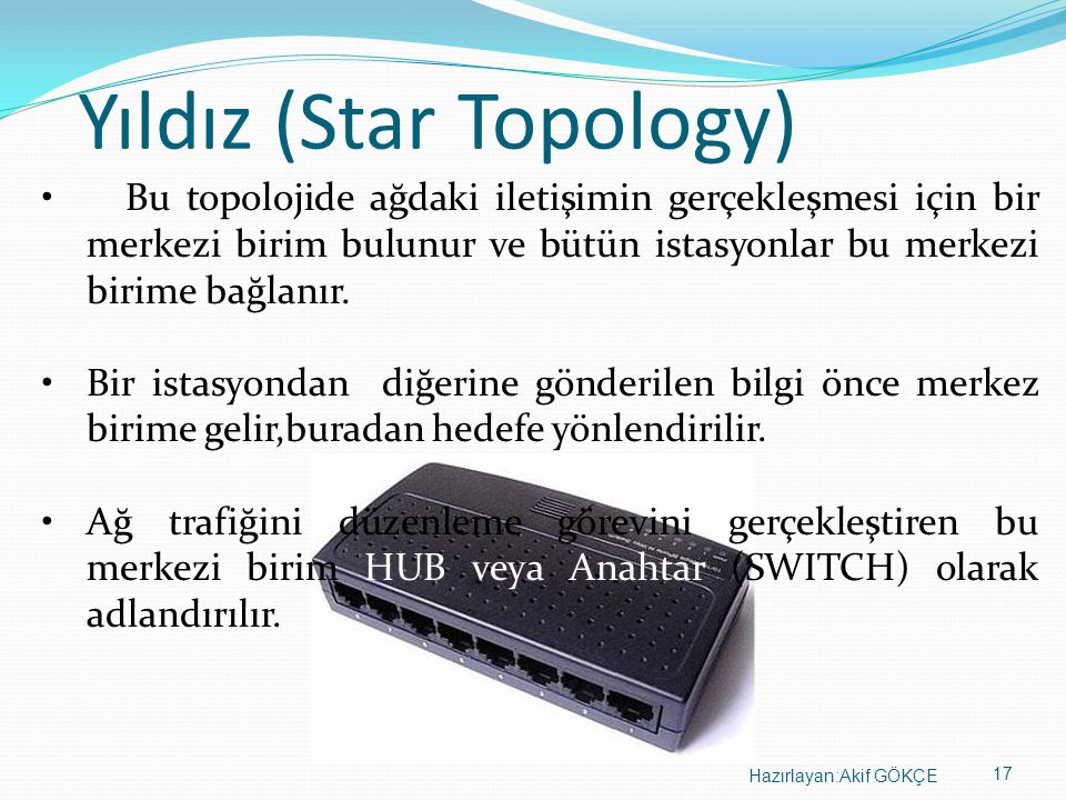 Yıldız (Star Topology)