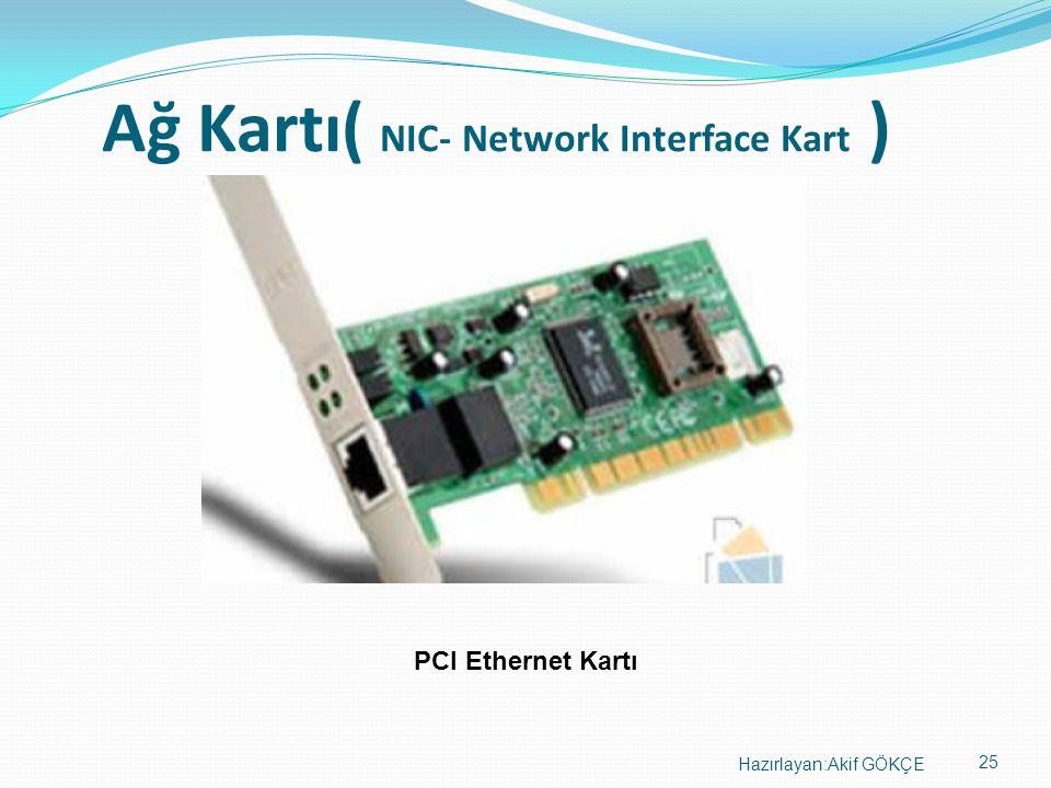 Ağ Kartı( NIC- Network Interface Kart )