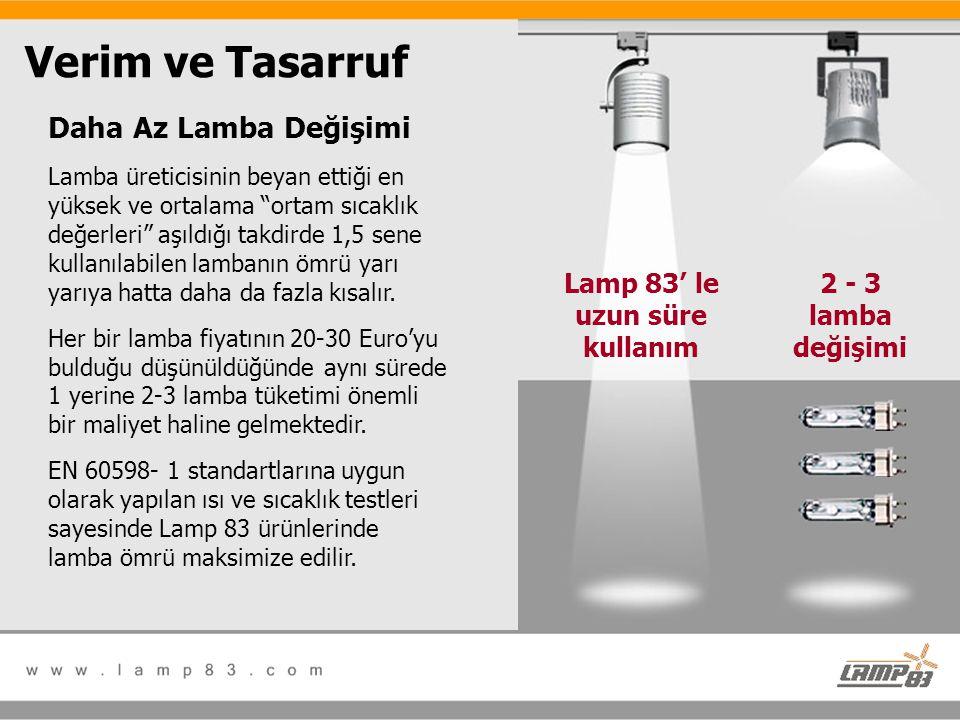 Lamp 83' le uzun süre kullanım