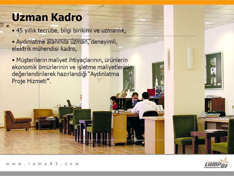 Uzman Kadro 45 yıllık tecrübe, bilgi birikimi ve uzmanlık,