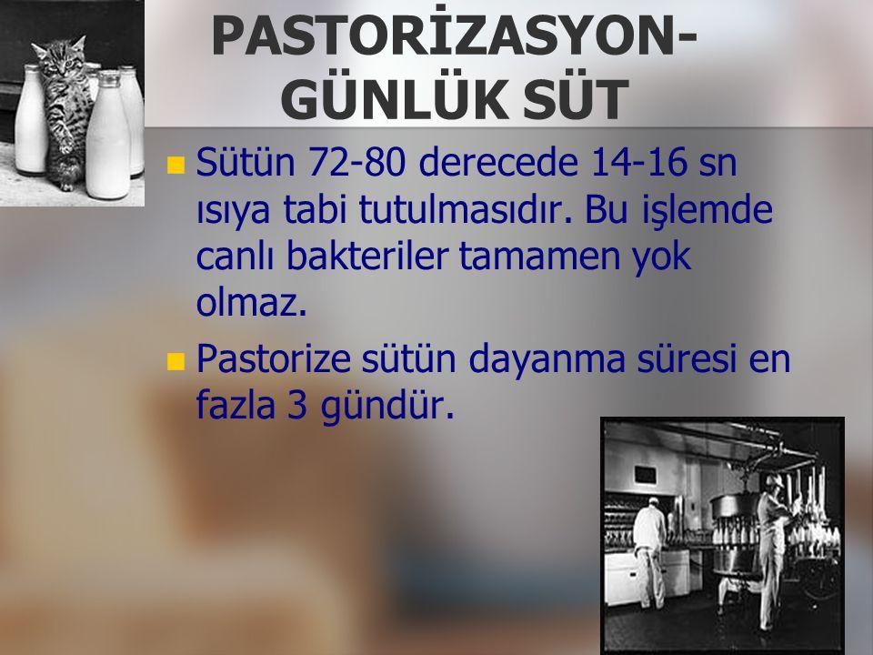 PASTORİZASYON- GÜNLÜK SÜT