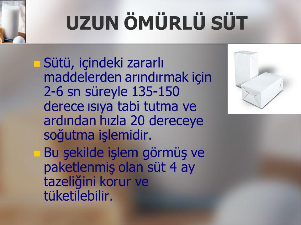 UZUN ÖMÜRLÜ SÜT