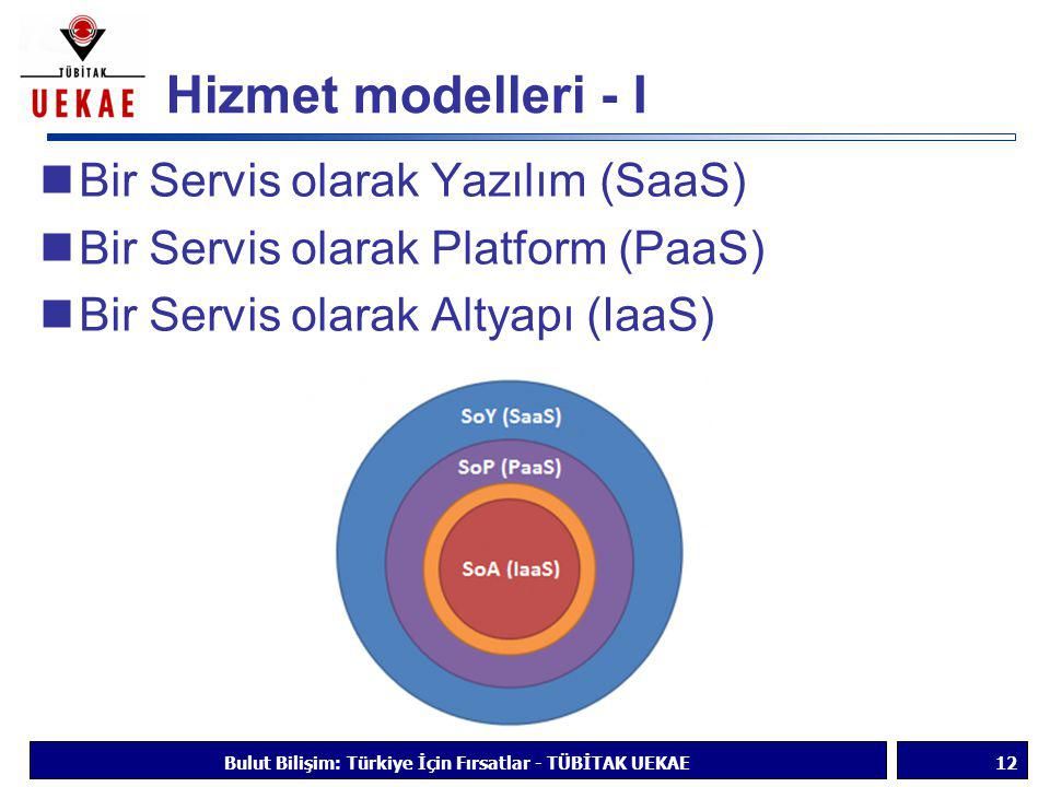 Bulut Bilişim: Türkiye İçin Fırsatlar - TÜBİTAK UEKAE