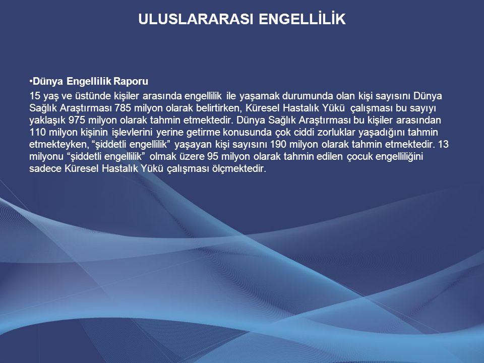 ULUSLARARASI ENGELLİLİK