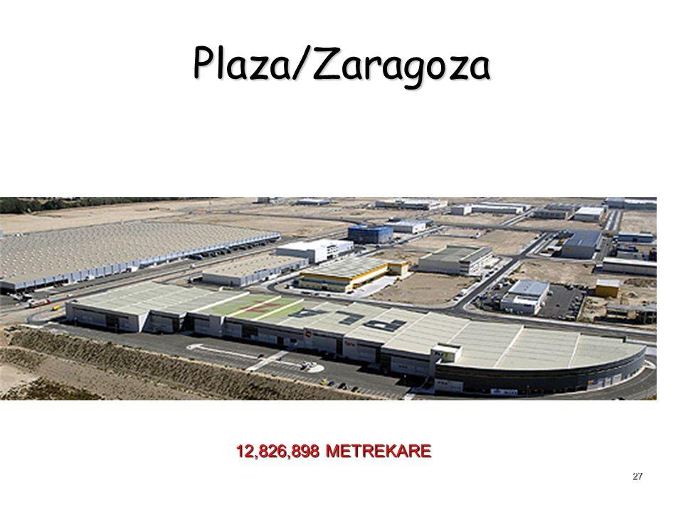 Plaza/Zaragoza 12,826,898 METREKARE 27