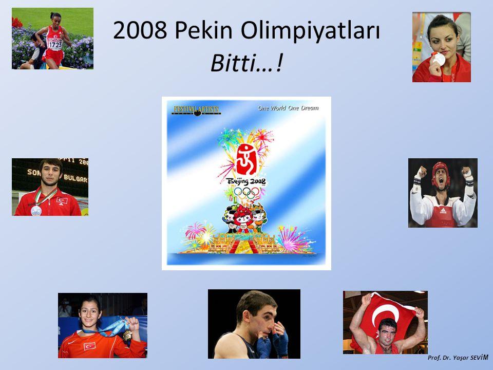 2008 Pekin Olimpiyatları Bitti…!