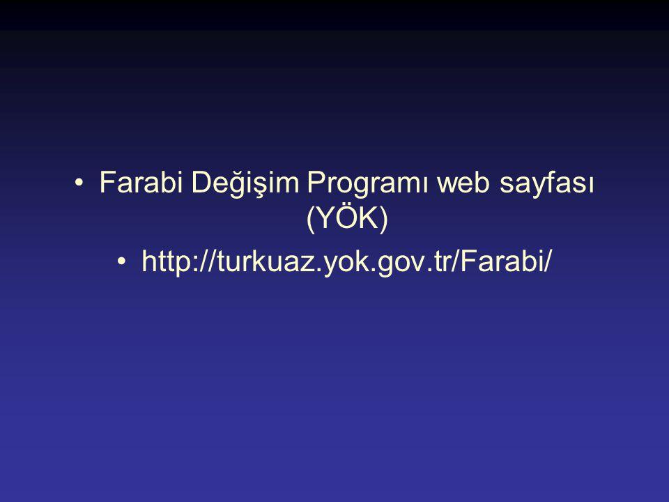 Farabi Değişim Programı web sayfası (YÖK)