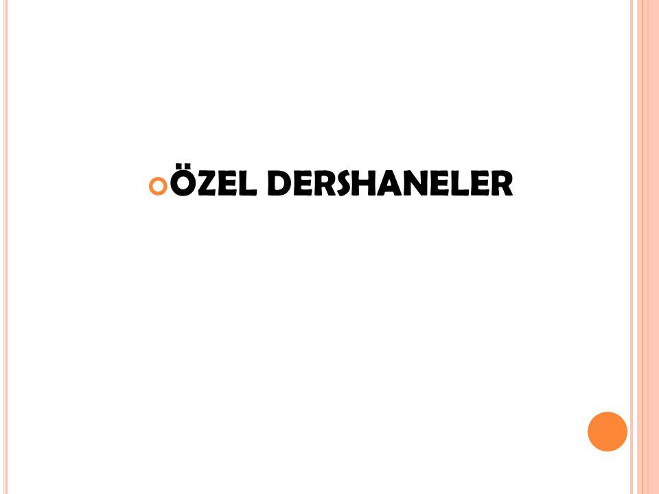 ÖZEL DERSHANELER