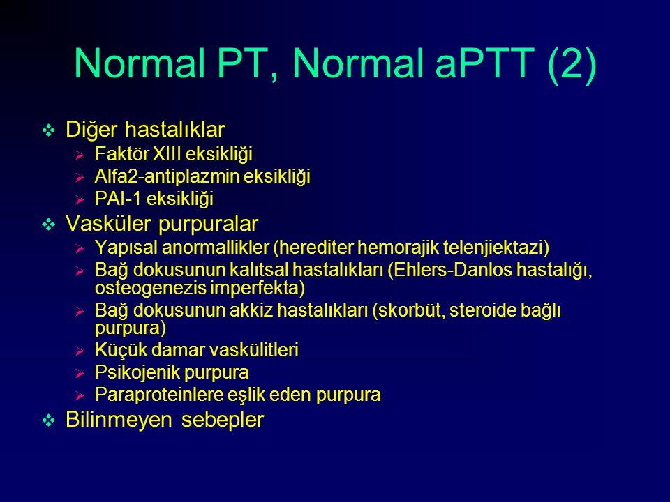 Normal PT, Normal aPTT (2)