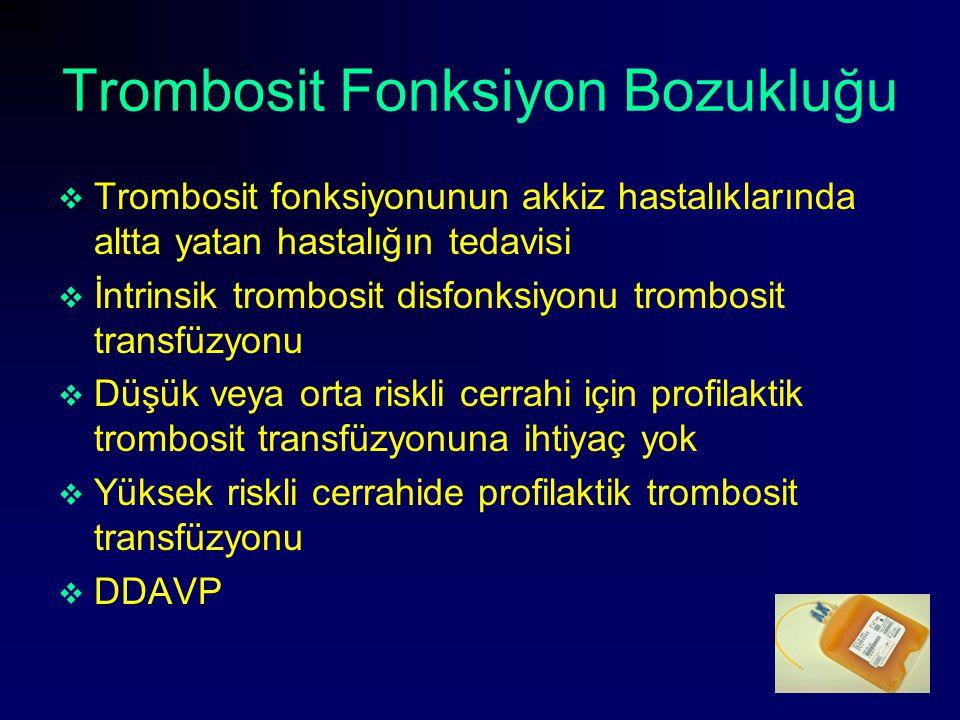 Trombosit Fonksiyon Bozukluğu